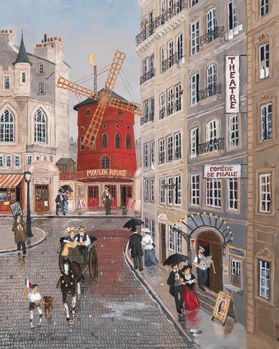 Fabienne Delacroix, 'Le Moulin Rouge depuis la Rue Blanche', 2019