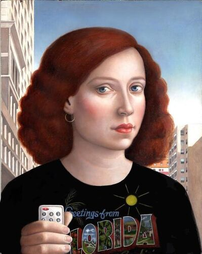 Amy Hill, 'Woman with Remote Control'