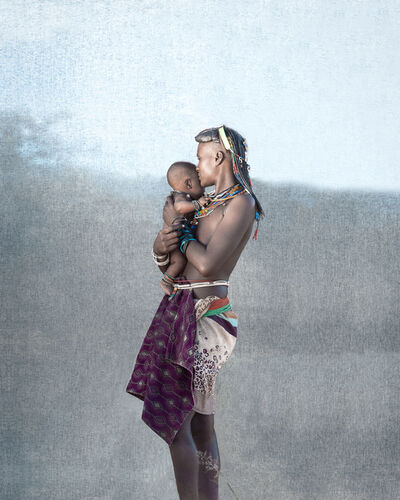 Christopher Rimmer, 'Ovakahona Mother & Baby, Southern Angola', 2016