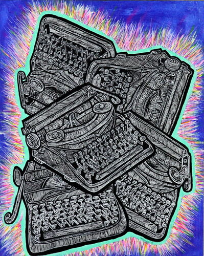 Charly Fasano, 'Pile of Typewriters', 2017