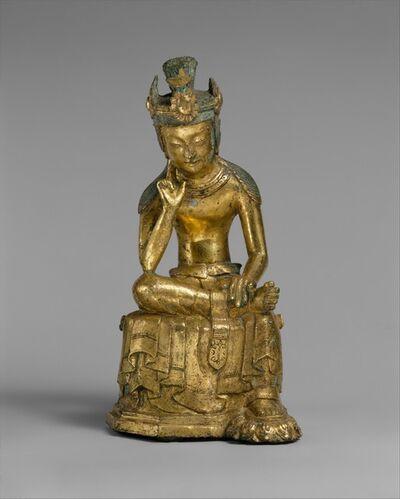 Unknown Korean, 'Pensive bodhisattva (금동반가사유상 삼국|金銅半跏思惟像 三國)', mid-7th century