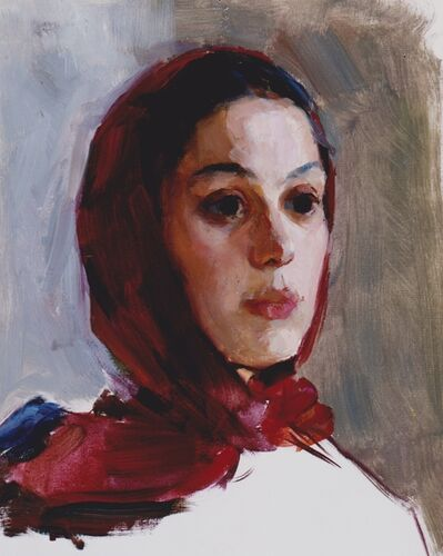 Marina A. Ivanova, 'Girl with a red headscarf      ', 1959