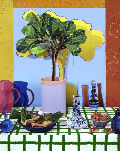Daniel Gordon, 'Fiddle Leaf Ficus with Root Vegetables and Chanterelles, 2021', 2021