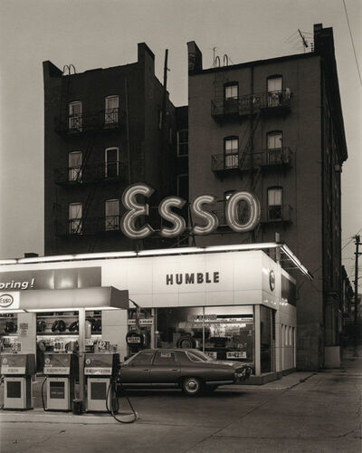 George Tice, 'Esso Station and Tenement House, Hoboken, NJ', 1972