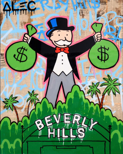 Alec Monopoly, 'Monopoly Holding 2 & Bags Beverly Hills'', 2019
