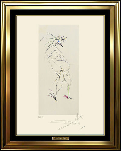 Salvador Dalí, 'Salvador Dali Original Color Etching Authentic HAND SIGNED Surreal Nude Artwork', 1950-1969