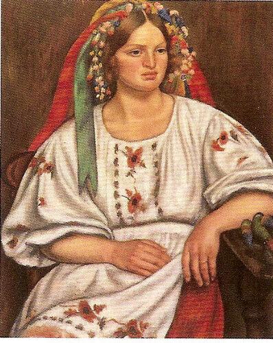 Mark Gertler, 'Russian Peasant Girl', 1926