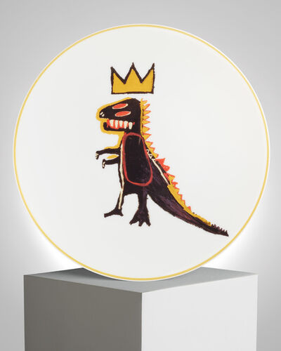 "Jean-Michel Basquiat, '""Gold Dragon"" Porcelain Plate', ca. 2019"