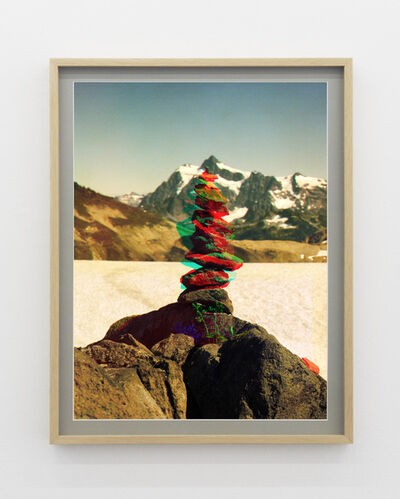 Peter Funch, ' Variation of Cairn on Ptarmigan Ridge with Mt. Shuksan in Background (E)', 2014