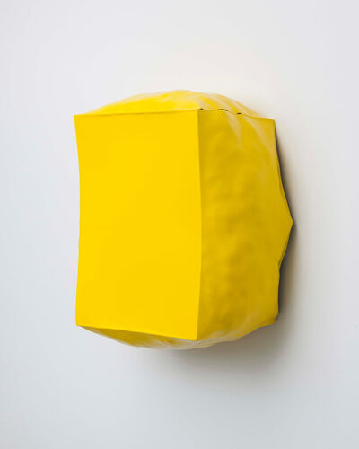 Angela de la Cruz, 'Burst (Yellow)', 2013
