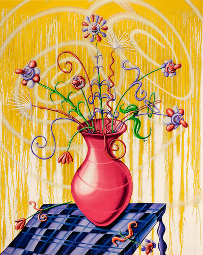 Kenny Scharf, 'Flores (Yellow)', 2020