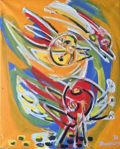 Anton Rooskens, 'Figuur met vogels', 1971