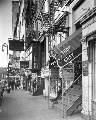 Berenice Abbott, 'West 8th Street, Near MacDougal Street'