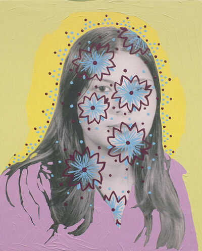 Daisy Patton, 'Untitled (Woman with Flower Outlines and Dots)', 2018