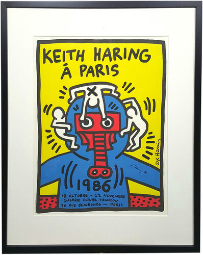 Keith Haring, 'Keith Haring à Paris (Signed)', 1986