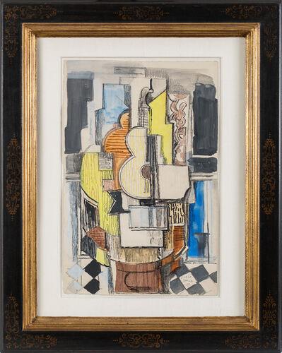 Ismael González de la Serna, 'Interieur cubiste à la guitare', 1927