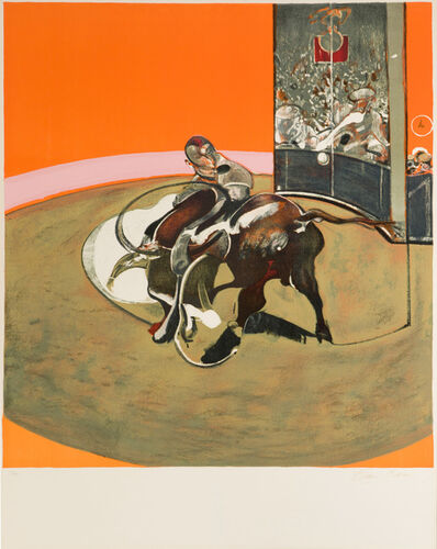 "Francis Bacon, 'Etude pour une corrida (after ""Study for a Bullfight No. 1, 1969)', 1971"
