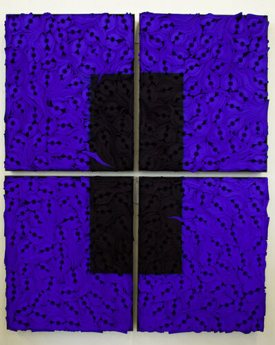 Jae Ko, 'JK2100 Ultramarine Blue with Black', 2020