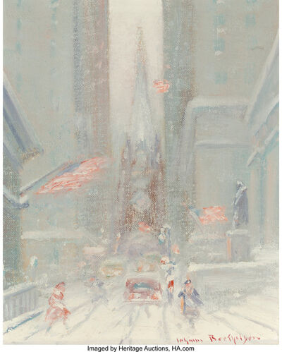 Johann Berthelsen, 'Trinity Church in Winter'