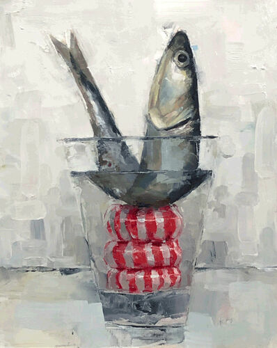 Tom Giesler, 'Floral 38: peppermint fish', 2020