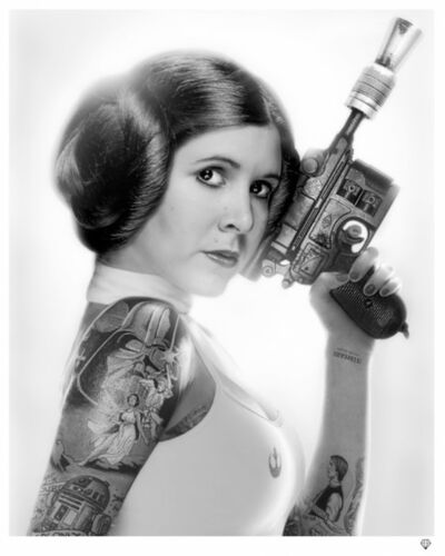 JJ Adams, 'Princess Leia (b/w)', 2015