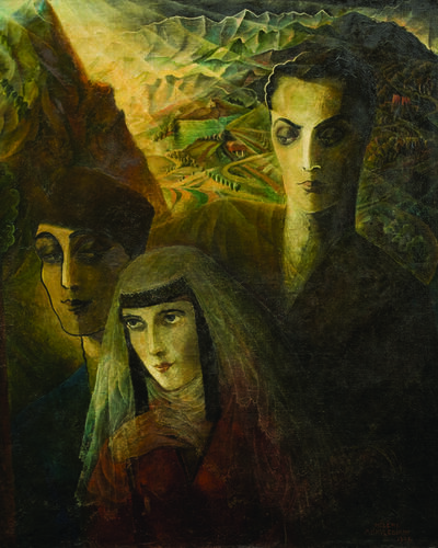 Elene Akhvlediani, 'Loving Triangle', 1926