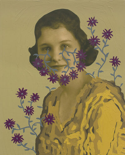 Daisy Patton, 'Untitled (Woman with Gray Vines and Mauve Flowers)', 2018