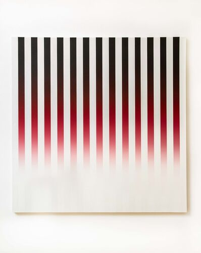 Philippe Decrauzat, 'Slow Motion Black to Red to White', 2018