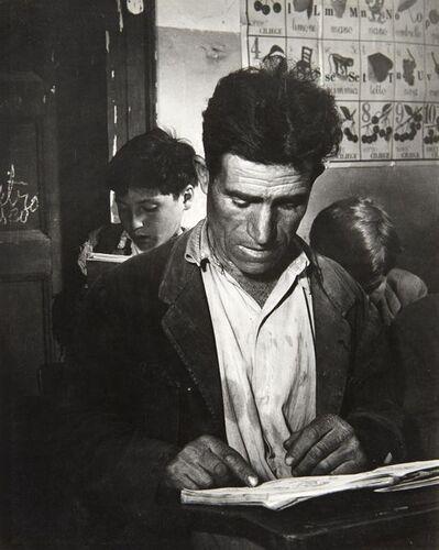 "David ""CHIM"" Seymour, 'Battle Against Illiteracy, Rogiano Gravenia, Italy', circa 1950"
