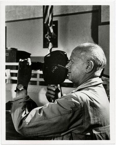 Unknown, 'Henri Cartier-Bresson shooting a film scene', 1970