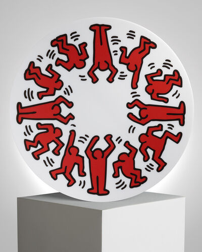 """Keith Haring, '""""Red on White"""" Porcelain Plate', ca. 2019"""