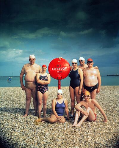 Neal Slavin, '15 July 1984 Channel Swimmers', 1984