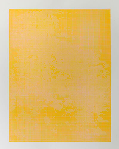 Corinne Laroche, 'White on gold yellow', 2008