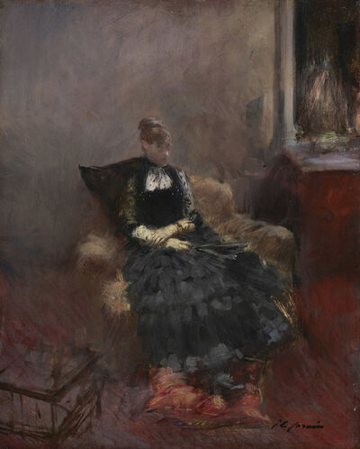 Jean-Louis Forain, 'The Woman in Black', ca. 1895