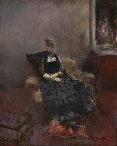 Jean-Louis Forain, 'The Woman in Black', ca. 1895