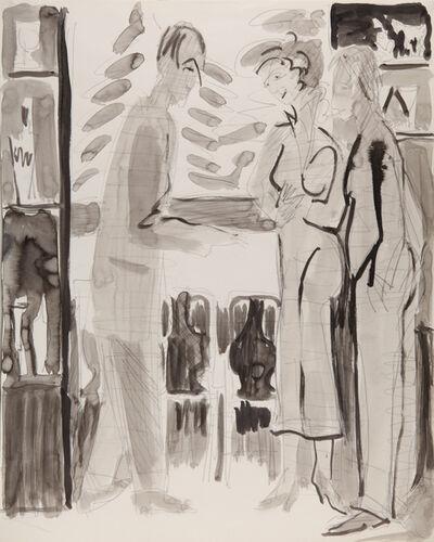 Ernst Ludwig Kirchner, 'Begrüssung im Café Schneider Davos (Welcome at Café Schneider Davos)', 1936