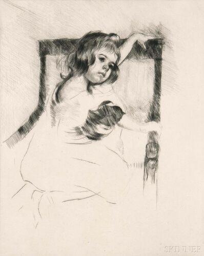 Mary Cassatt, 'Kneeling in an Armchair', c. 1903