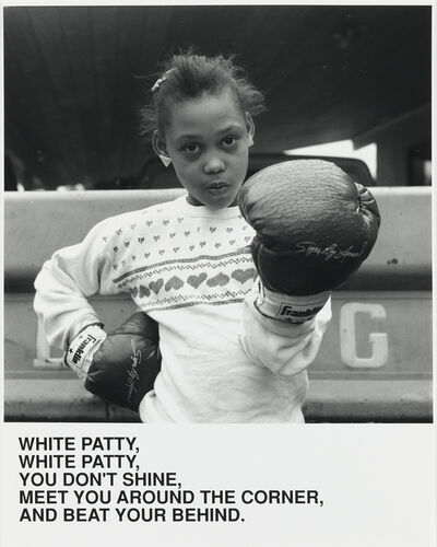 Carrie Mae Weems, 'White Patty, White Patty, You Don't Shine, Meet You Around the Corner, And Beat Your Behind', 1987