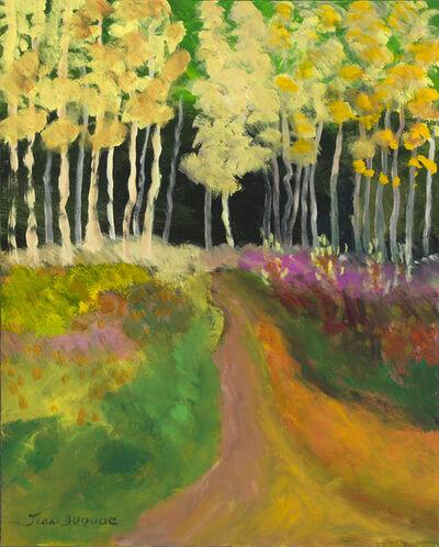 """Jean Duquoc, '""""Paysage aux chants des oiseaux"""" --- Brittany, France, Expressionist, fields, landscape, trees, forest, path', 2017"""