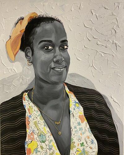 Otis Kwame Kye Quaicoe, 'Girl with the Gold Necklace', 2020
