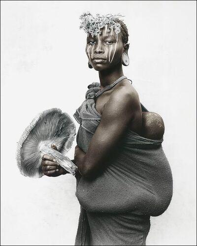 Jan C. Schlegel, 'Mother with mushroom, Sure tribe, Ethiopia', 2019