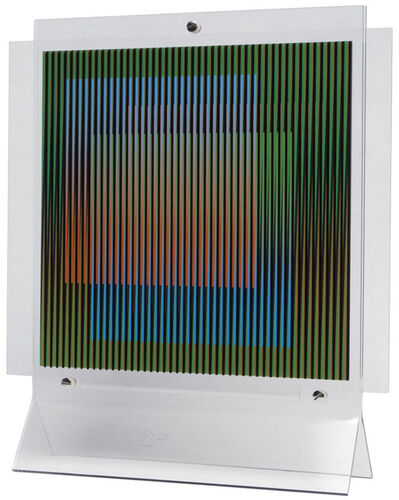 Carlos Cruz-Diez, 'Chromointerference Manipulable La Difference', 2011
