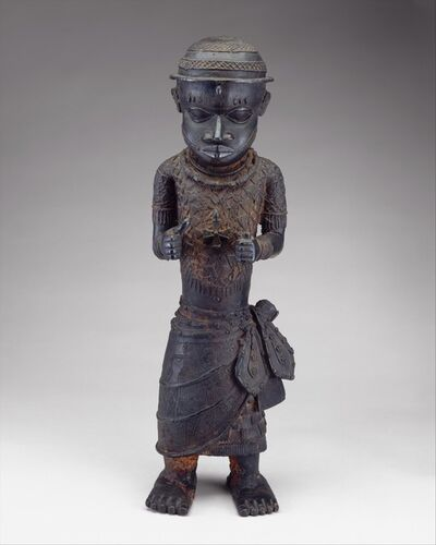 Unknown Edo (African), 'Male Figure: Court Official', 16th–17th century