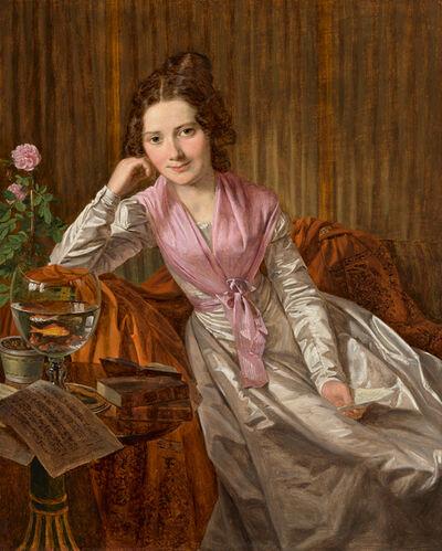 Ferdinand Georg Waldmüller, 'Actress Therese Krones', 1824