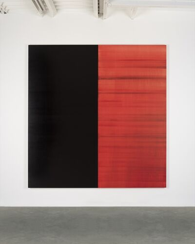 Callum Innes, 'Untitled Lamp Black / Crimson Lake', 2019