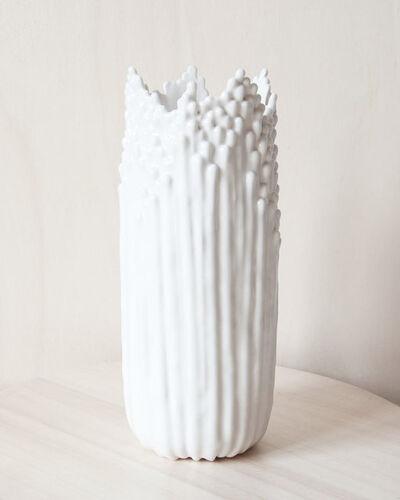 Cécile Bichon, 'Grand Vase Floral Blanc Satiné', 2019