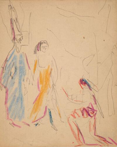 Ernst Ludwig Kirchner, 'Kabarettszene (Cabaret scene)', 1909