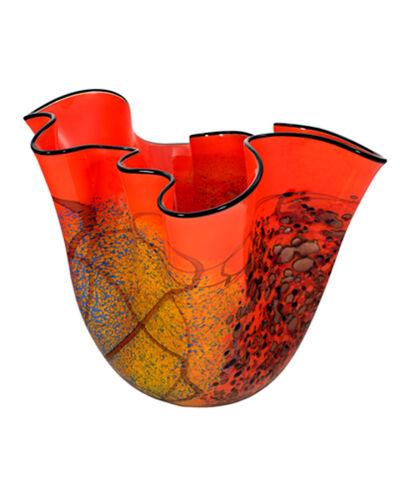 Ioan Nemtoi, 'Orange Wavy Vase/Copper Iridescent', 2005