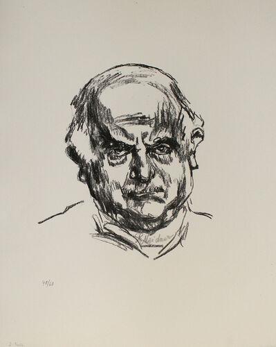 Ludwig Meidner, 'Selbstbildnis en face', 1965