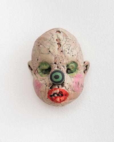 Tom Bartel, 'Medium Doll Head, Green & Black Striped Nose', 2018